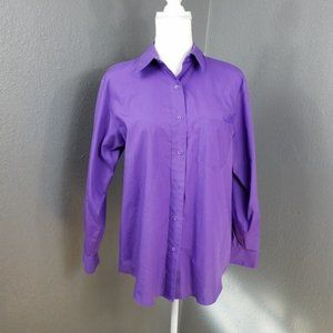 Foxcroft Wrinkle Free Blouse Size 10 Button Front